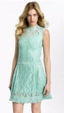 Nanette Lepore 'Sunset Blvd' Lace Drop Waist Eyelet Fringe Hem Mini Dress Size 2