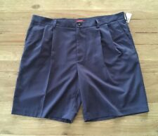 IZOD Mens Size 42  Slate Blue Mainfloor Pleated Dress Shorts No Iron Polyester