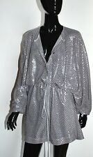 VIVIENNE WESTWOOD sequin PARTY Hipster Dress TOP Drawstring Waist Silver Flapper