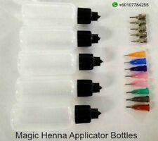 Henna Applicator Bottles / Applicator Bottles Kit ( 5 bottles with 13 tips)