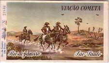 BRAZIL - 1962 VIAÇAO COMETA TICKET RIO DE JANEIRO-SAO PAULO