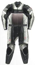 Top DAINESE Vulcan Gr. 36 Zweiteiler Lederkombi schwarz silber Leather Suit