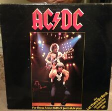 """AC/DC For Those About To Rock 12"""" Single EP LP RARE"""