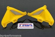 TYGA Honda MSX 125 grom 2013 yellow tank grill set bolt on with duct