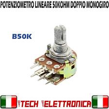 Potenziometro lineare 50K ohm potenziometri monogiro doppio 50kohm ARDUINO