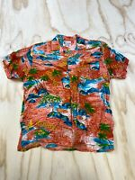 VTG WATANMAL MEN SIZE LARGE BAHAMAS HAWAIIAN BUTTON UP SHORT SLEEVE SHIRT EUC
