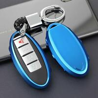Car Key Fob Chain For Nissan Infiniti Accessories Keychain Ring Case Cover Blue