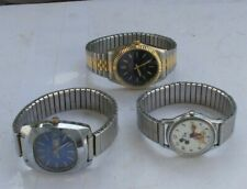 LOT Vintage Watches Men's Waltham Prestige Timex Wind Up Lorus Mickey Mouse LOOK