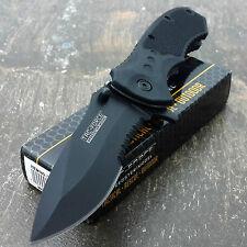 TAC FORCE Spring Assisted Opening BLACK TACTICAL Pocket Knife Folding Blade NEW!