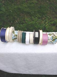 "Crafts 12- Polyester Ribbon Spools 1/2 - 3"""