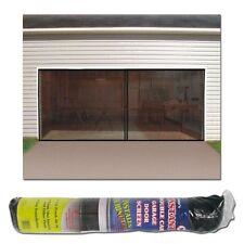 Garage Door Screens Enclosure 2 Car Double Magnetic 16' x 7' Pest Bug Mosquito