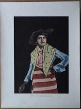 ca.1895 French photochrom MULATTO WOMAN, SAINT-PIERRE, MARTINIQUE, CARIBBEAN