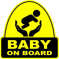 Baby On Board VINYL STICKER Decal Sign Child  Car  Window Safety