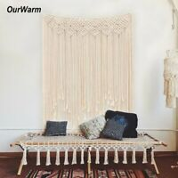Boho Cotton Macrame Wedding Backdrop Wall Hanging Tapestry Hanger Art Home Decor