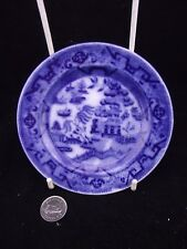 "EARLY 1900'S ROYAL DOULTON BLUE WILLOW   5.5"" PLATE  FLOW"