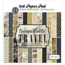 Transatlantic Travel Collection Scrapbooking 6x6 Paper Pad Carta Bella New