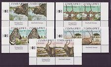 Zimbabwe 2007 SAPOA National Animals Imprint Pairs, MNH (Zebra, Buffalo)