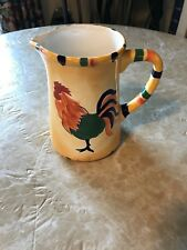 Ceramic Rooster Themed Pitcher