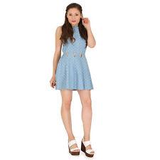 Polyester Spotted Skater Dresses for Women