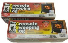 2x Creosote Sweeping Log  Treats & Cleans Build-up in Fireplaces & Stoves