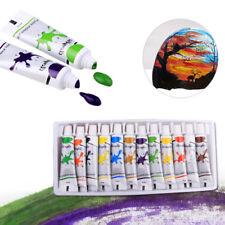 Eg _ 12 Couleurs Acrylique Peintures Set 12ML Tubes Dessin Artisanale sur Toile