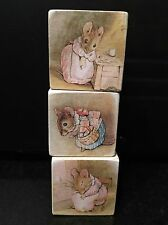 Beatrix Potter Mrs Tittlemouse  Wooden Blocks Nursery Peter Rabbit Gift