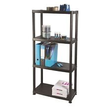 Ram Quality Products Primo 12 inch 4-Tier Plastic Storage Shelves (Open Box)