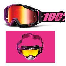 100% Gafas de motocross HARIBO RACECRAFT Rojo Espejo Colorido Por Cien Mx Enduro