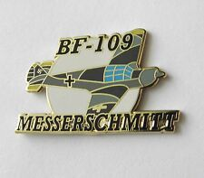 MESSERSCHMIDT B-109 WWII GERMAN FIGHTER AIRCRAFT LAPEL PIN 1.5 inches