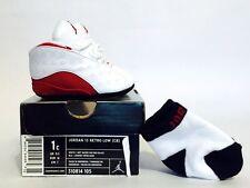 Brand New Nike Air Jordan 13 Retro Low (CB) Crib White Red XIII 310814-105 1c