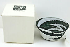 Handcrafted Zulu Telephone Wire Basket South Africa 4.5""