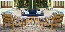 6 Pc Teak Sofa Set Garden Outdoor Patio Furniture Pool Deck - Sack Lounging Set