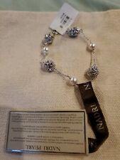Nadri Pearl and Filigree Station Bracelet NWT $75