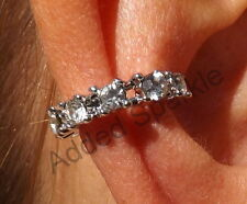 on Ear Cuff Statement Earrings Alec55 Really Stunning Cute Crystal Silver Clip