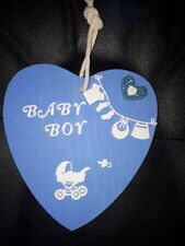 Hanging Heart Plaques Personalised Any Colours/words/names/d.o.b/ year.....