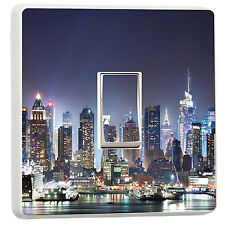 New York City skyline photo light switch cover sticker (7324213) Cityscape USA