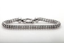 Signed $3400 FOPE 18k White Gold CYLINDER Bracelet