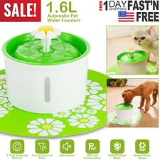 Automatic Pet Water Fountain Cat Dog Health Caring Water Dispenser Silent US