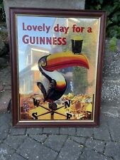 More details for vintage guinness toucan framed mirror very good condition