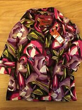 Missoni For Target Girls Medium Pink Purple Floral Trench Coat/Jacket 18-24 m