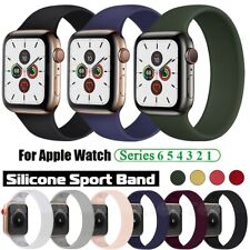 Solo Silicone Band Strap For Apple Watch SE 6 5 4 3 Elastic Replacement Bracelet