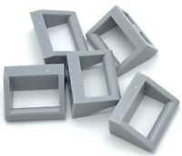 Lego 5 New Light Bluish Gray Tiles Modified 1 x 2 with Handle Pieces