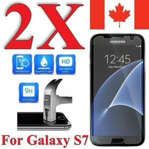 Premium Screen Protector Cover For Samsung Galaxy S7 (2 Pack)