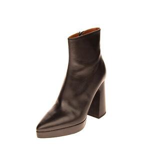 RRP €610 PROENZA SCHOULER Leather Ankle Boots EU39 UK6 US9 Heel Platform Sole