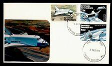 DR WHO 1978 GRENADA GRENADINES FDC SPACE SHUTTLE CACHET COMBO  g42468