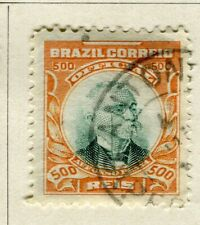 BRAZIL; 1906 early Penna Official issue fine used 500r. value