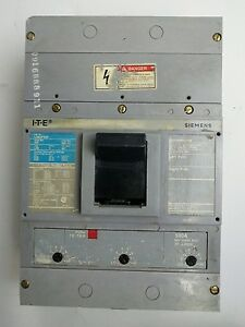 ITE SIEMENS LD63F600 CIRCUIT BREAK 600VAC 600AMP TYPE LD6 3 POLE 500A TRIP UNIT
