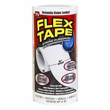 New Listingflex Tape White 8 In X 5 Ft Strong Rubberized Waterproof Tape