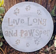 Dog cat plaque mold garden ornament stepping stone