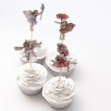 Flower Fairy Cake Picks /Flags Party Cupcake Decorations X 12